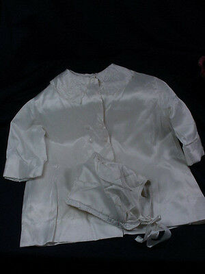 Childs Vintage Coat & Hat Satin Material Or Could Be Used For A Large Doll