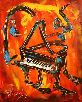 GRAND PIANO   Large Abstract Modern Original Oil Painting bFEFav