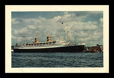 Dr Jim Stamps Us Nieus Amsterdam Holland America Line Topical View Postcard