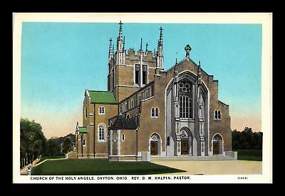 Dr Jim Stamps Us Church Holy Angels Dayton Ohio White Border View Postcard