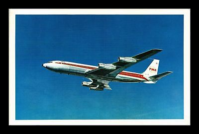 Dr Jim Stamps Us Twa Star Stream Airplane View Postcard