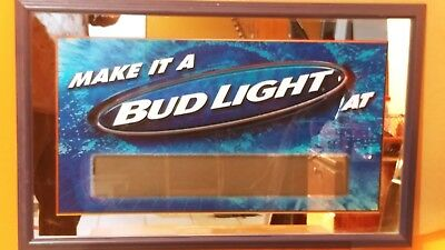 Bud light mirror sign