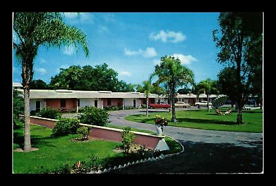 Dr Jim Stamps Us Tropical Motel Bartow Florida View Chrome Postcard