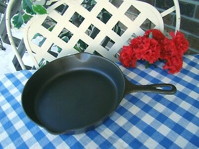 Griswold Cast Iron #8 Large Block Logo Skillet with Heat Ring – Cleaned & Season
