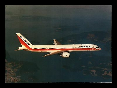 Dr Jim Stamps Air Europe Boeing 757 Airplane Continental Size Postcard