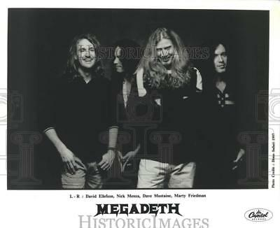 """1997 Press Photo The members of an American heavy metal band """"Megadeth"""""""