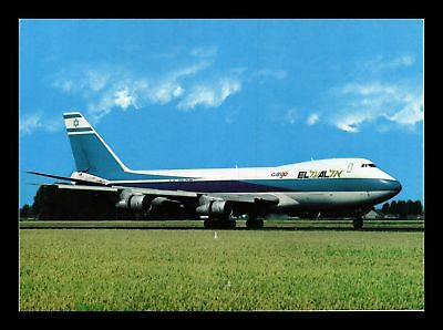 Dr Jim Stamps Elal Cargo Boeing 747 Airplane Continental Size Postcard