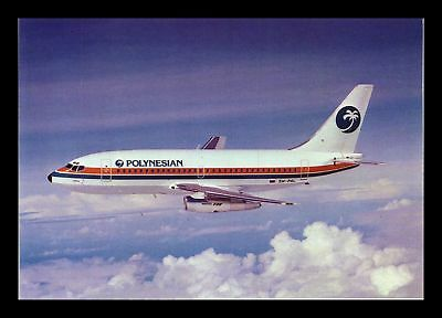 Dr Jim Stamps Polynesian Airlines Boeing 737 Airplane Continental Size Postcard