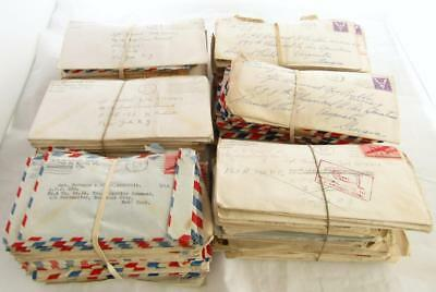 WW2 Letters To Soldier 650+ Envelopes Correspondence Army Family Postcards Misc