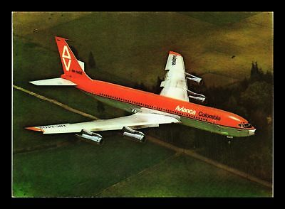 Dr Jim Stamps Avianca Jet Boeing 707 Airplane Continental Size Postcard