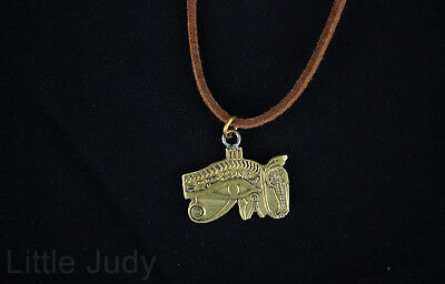 Egypt Ethnic Eye of Horus udjat wedjat Handmade copper necklace women New
