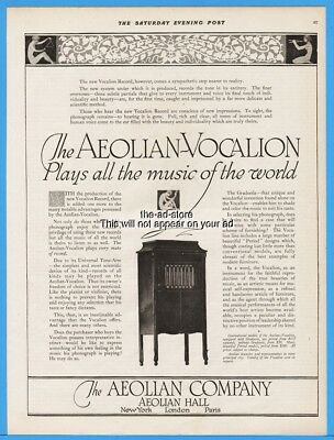 1918 Aeolian Co New York Vocalion Record Phonograph WOW Art Deco Magazine Ad