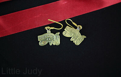Egypt Ethnic Eye of Horus udjat wedjat Handmade copper earrings women New