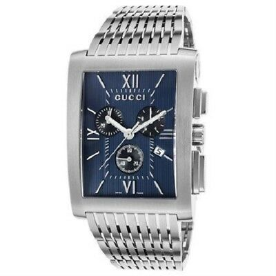 bd082b0d5ce Gucci Ya086318 Men s G Metro Chronograph Stainless Steel Navy Blue Dial  Watch