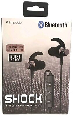 Bluetooth Shock wireless earbuds with mic. Long 3+hour battery life.