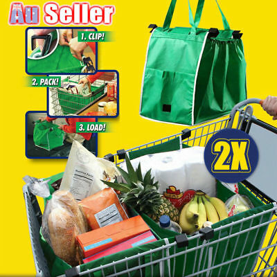 Portable Reusable Shopping Bag Trolley Eco Storage Foldable Cart Totes Grocery
