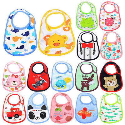 Cartoon Baby Boy Girl Cotton Bibs Saliva Towel Waterproof Feeding Burp Apron