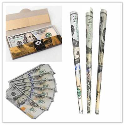 $100 Bill Rolling Cigarette Papers USD 1 Wallet of 10 Smoking Hemp Tobacco Paper