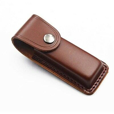 """5"""" Real Leather Sheath Pocket / Folding Knife Multi Tool Case Pouch Holster new"""