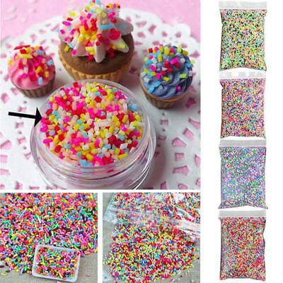 100g DIY Polymer Clay Fake Candy Sweet Sugar Sprinkles Decoration for Phone US