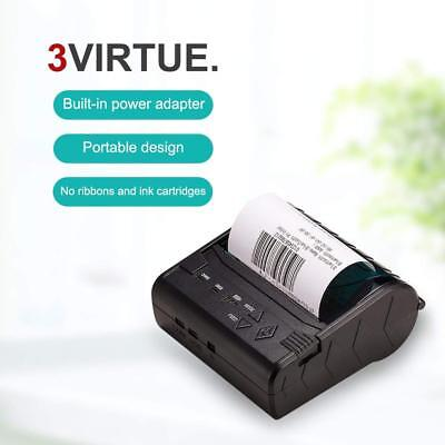 Thermal Receipt Printer 80mm Pocket POS Mini Wireless Bluetooth Printer With app