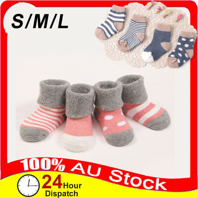 4 Pairs Cotton Winter Socks Autumn Baby Models Anti-skid Korean Soft Absorbent