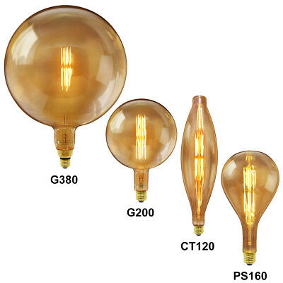 Vintage Retro Antique Style Edison LED Light Bulbs Industrial Oversize XL E27