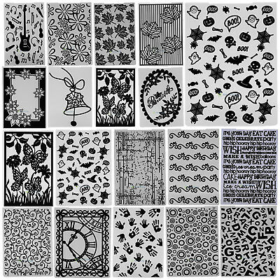 DIY Plastic Embossing Folder Template Scrapbook Album Card Paper Crafts Pattern