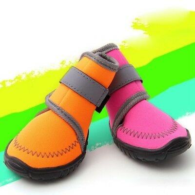 4Pcs Waterproof Pet Dog Shoes Anti-Slip Puppy Winter Warm Snow Boots Protective