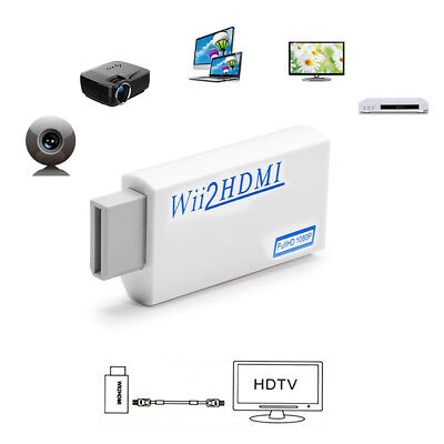 Portable Wii HDMI-Wii2HDMI Full HD Konverter Audio Output Adapter TV