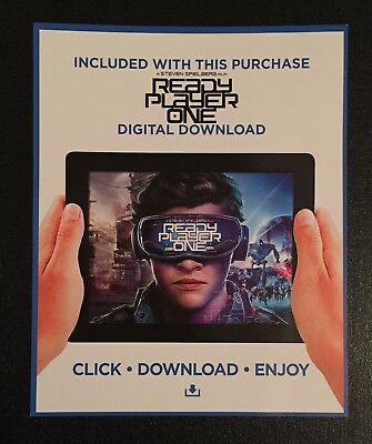 READY PLAYER ONE (2018) HD UV Ultra Violet Code from UK BLU RAY NO DISC
