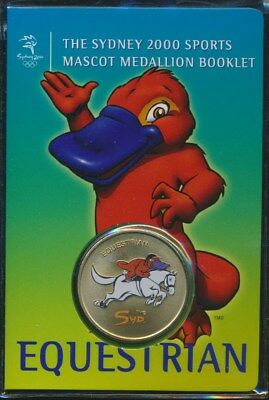 "Australia: 2000 Olympic Equestrian Medallion ""Syd"" Sports Mascot Booklet"