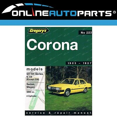 Gregorys Workshop Repair Manual Book suits Toyota Corona ST141 2.0L 4Cyl 83~87