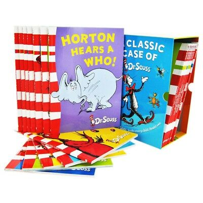 A Classic Case of Dr. Seuss 20 Book Collection The Cat in the Hat, Green Eggs an
