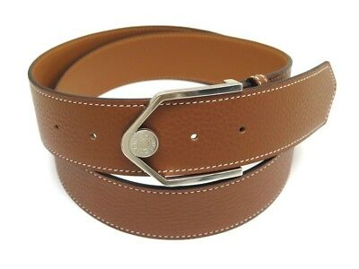 Neuf Ceinture Hermes Licol H070120Ck37100 T100 Cuir Taurillon Clemence Belt  770€ cd52eafe9d4