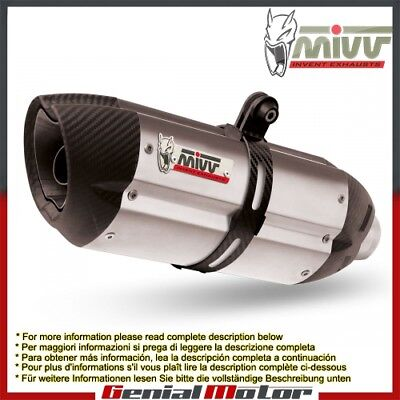 Mivv Exhaust Muffler Suono Stainless Steel for Kawasaki Z 800 2013 > 2016