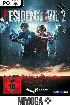 Resident Evil 2 Remake - PC Spiele Code - STEAM Download Key NEU RE:2 [DE][EU]