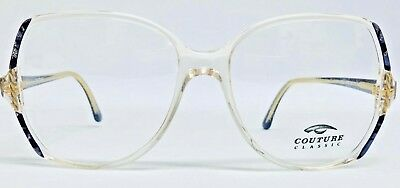 Genuine Vintage Round Oversized Couture Classic Glasses Frames Purple/ Glitter