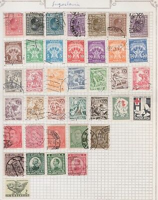YUGOSLAVIA Collection Red Cross, Industry, Early Issue, USED MH etc, per Scan  #