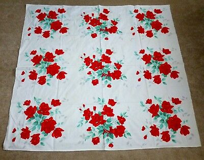 Wilendur Tablecloth Red Roses 54X50