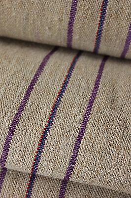 Grainsack fabric grain sack material hemp PURPLE RED BLUE WIDE upholstery washed