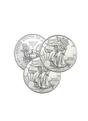 Lot of 3 Silver 2019 American Eagle 1 oz. Coins .999 fine silver US Eagles 1oz