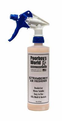 Poorboys Strawberry Air Freshener With Trigger Interior Car Care 473mL