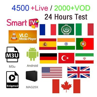 PREMIUM🔥IPTV⭐ SMART TV M3U Android 6000 Sender& 5000VODs