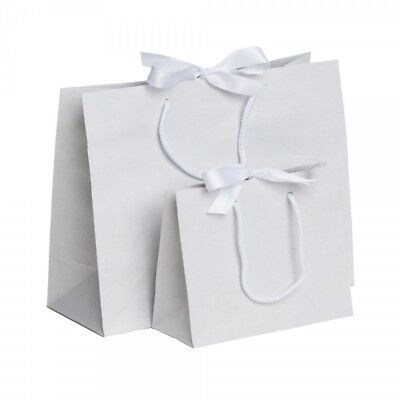 Luxury Boutique Ribbon Tie Gift Bag Rope Handles Baby Wedding Party Paper Bags