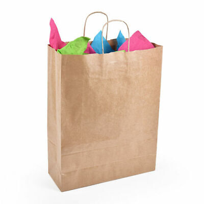 Medium Paper Carrier Twist Handle Brown Kraft 32cm X 12cm X 41cm - Pack of 50