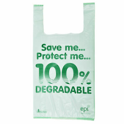 "13"" x 19"" x 23"" Jumbo Image 100% Degradable Plastic Carrier Bags - Pack of 100"