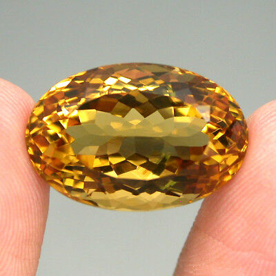 Citrine Clean Gem! 18.09ct. Oval 100%natural Unheated Top Yellow Golden Brazil