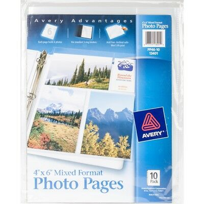 """Mixed Format Photo Pages 4""""x6"""" 10/pkg-"""
