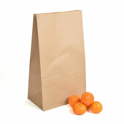21lb Block Bottom Brown Recyclable, Biodegradable Paper Kraft Bags - Pack of 50